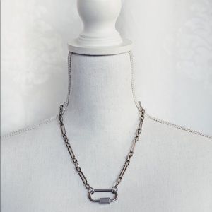 Bijoux Chain Necklace- Silver
